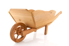 Wooden wheelbarrow Royalty Free Stock Photos