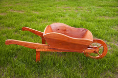Wooden wheelbarrow Stock Image