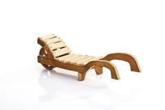 Wooden wheelbarrow Stock Images