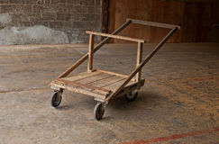 Wooden wheelbarrow Royalty Free Stock Photography
