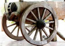 Wooden Wheelbarrow. The part of vintage wooden wheelbarrow Royalty Free Stock Photo