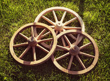 Wooden wheels Stock Image