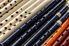 Wooden Whistles 2 stock photography