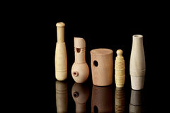 Wooden whistles for calling ducks and other birds Stock Photos