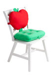 Wooden white chair Stock Photography