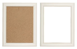 Wooden white picture frame Royalty Free Stock Photography
