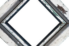 Wooden white picture frame Royalty Free Stock Photo