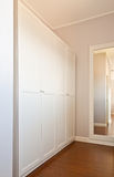 Wooden white wardrobe Stock Image