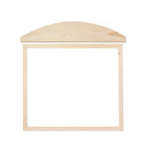 Wooden Whiteboard with Blank Space isolated on white Stock Images