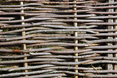 Wooden wicker fence Royalty Free Stock Image