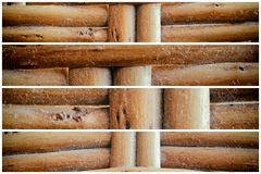 Wooden wicker texture of basketwork for background use.  Stock Images
