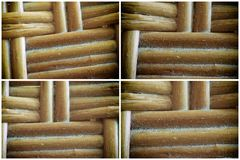 Wooden wicker texture of basketwork for background use.  Stock Photography