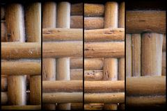 Wooden wicker texture of basketwork for background use.  Royalty Free Stock Image
