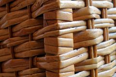 Wooden wicker texture of basketwork for background use. For web site or mobile devices Stock Photography