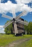 wooden wind mill Stock Photography