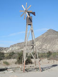 Wooden Wind Mill Royalty Free Stock Photos