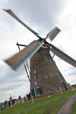 Wooden wind mill from Holland. A windmill in Kinderdijk, Holland Royalty Free Stock Photos