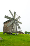 Wooden wind mill on Kizhi Stock Images