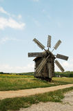 Wooden windmill Stock Image