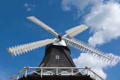 Wooden windmill. Stock Image