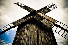 Wooden windmill Royalty Free Stock Image