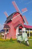 Wooden windmill cafe Stock Photography