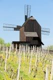 Wooden windmill, Czech Republic Stock Images