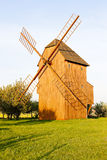 Wooden windmill, Czech Republic Stock Photography