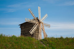 Wooden windmill Stock Photography