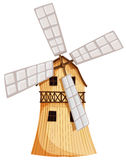 A wooden windmill Royalty Free Stock Images