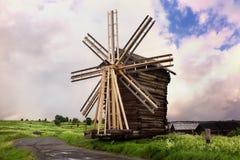Wooden Windmill. Kizhi Island, Russia Stock Photography