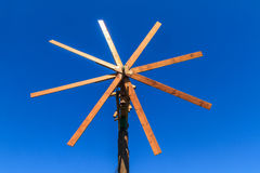 Wooden windmill (Klapotetz) in Styria, Austria Royalty Free Stock Images