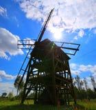 Old polish stylish grain grinder. royalty free stock photos
