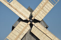 Wooden windmill. Monument. Stock Image