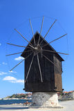 Wooden windmill in Nessebar, Bulgaria Stock Image