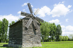 Wooden windmill Royalty Free Stock Images