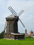 Wooden windmill in Suzdal, Russia Royalty Free Stock Photography