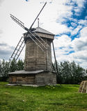 Wooden windmill in Suzdal, Vladimir region, Russia Royalty Free Stock Photos