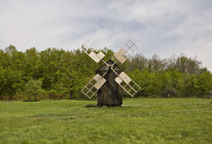 Wooden windmilll Stock Images
