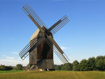 Wooden windmills Royalty Free Stock Images