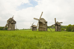 Wooden windmills Royalty Free Stock Photography