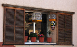 Wooden Window. Old wooden window in a traditional Mediterranean village Stock Photography