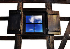 Wooden window Royalty Free Stock Photography