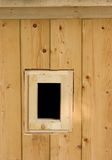 Wooden Window. A small wooden window royalty free stock photography
