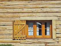 Wooden window Stock Image