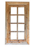 Wooden window. Wooden old-fashion window on the white background stock images