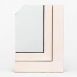 Wooden window with aluminium wrap sample,  Stock Photos