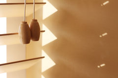 Wooden Window Blinds royalty free stock photos