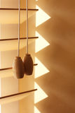Wooden Window Blinds and Wall Royalty Free Stock Image