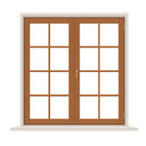 Wooden window casements Royalty Free Stock Photography